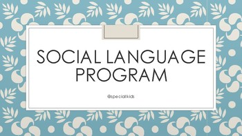 Social Language Program