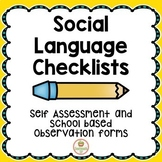 Social Skills Checklists