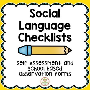 Social Skills:Self Assessment and Checklists