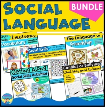 Social Skills Activities Bundle- Friendship, Emotions, Perspectives, Bullying