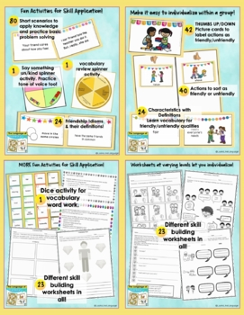Social Skills Activities Bundle for Differentiated Instruction