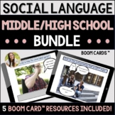 Social Language Teletherapy Bundle Middle/High School Boom Cards™