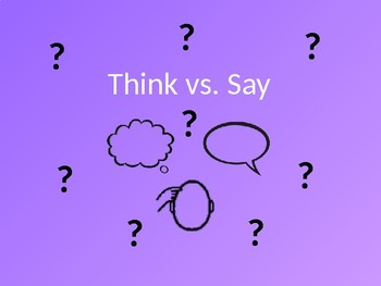 Social Language: Think vs. Say