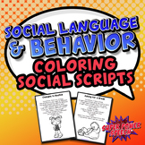 Social Language and Behavior Lessons Coloring Book