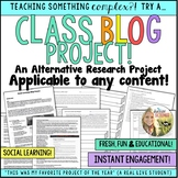 Class Blog Project - An Alternative Research Project - Social Learning