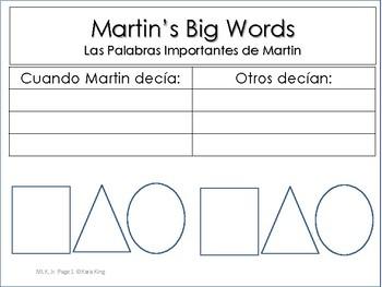Social MartinLutherKingJrcutandpasteactivitySpanish