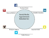 Social Media Appointment Clock and Student Profile Poster