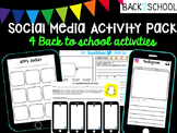 Social Media Back to School Activity Pack
