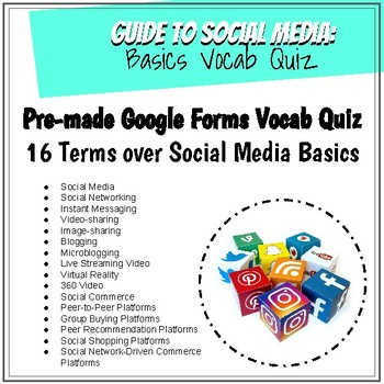 Social Media Basics Vocab Google Forms Quiz