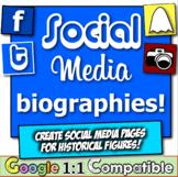 Social Media Biographies! Four engaging, fun, & popular social media templates!