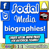 Get to Know You Activity with Social Media Biographies! 4 Social Media Templates