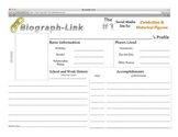 Social Media Biography Book Report Template