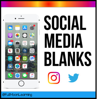 Social Media Blanks