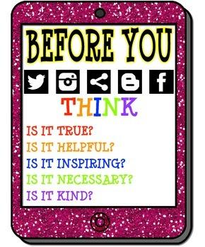 Social Media Citizenship Poster (Before You..)