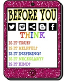 Social Media Citizenship Poster (Before You..)