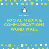 Social Media & Communications Word Wall