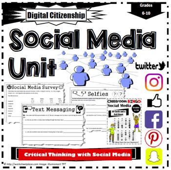 Social Media Critical Thinking Worksheets