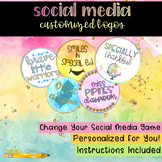 Social Media Customized Logo Set