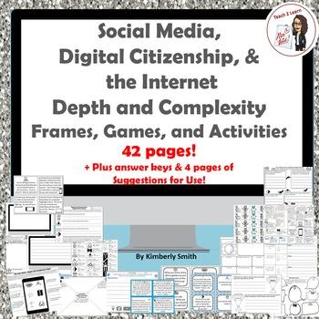 Social Media, Digital Citizenship, & the Internet Depth & Complexity Bundle