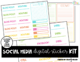 Social Media Digital Planner Stickers