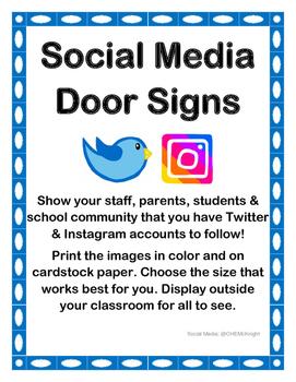 Social Media Door Signs