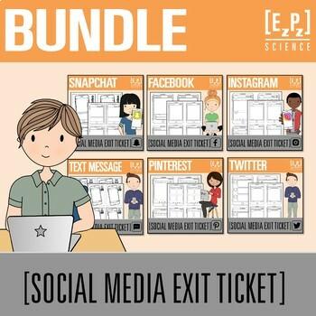 Social Media Exit Tickets Bundle