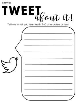 Social Media Exit Tickets - Social Media Sheets - Assessment As Learning