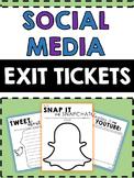 Social Media Exit Tickets - Social Media Sheets - Assessme