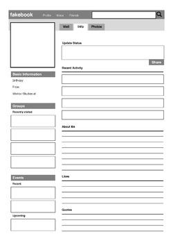 Social Media : Fakebook Profile Template (English / Drama Characters)