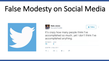 Social Media - False Modesty on Twitter (Humblebragging Celebrities)