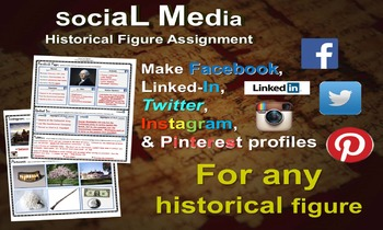 "NEW ""HISTORICAL FIGURE"" biography activity (facebook, pint"