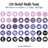 Social Media Icons: Round Blog Buttons, Periscope, Instagram, YouTube