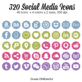 Social Media Icons: Blog Buttons, Social Media, Twitter Pinterest Instagram