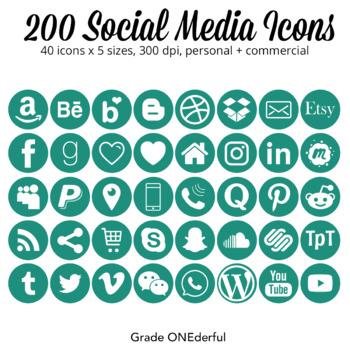 Social Media Icons: Blog Buttons, Social Media, Periscope Pinterest  Instagram