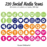 Social Media Icons: Blog Buttons, Social Media, Periscope