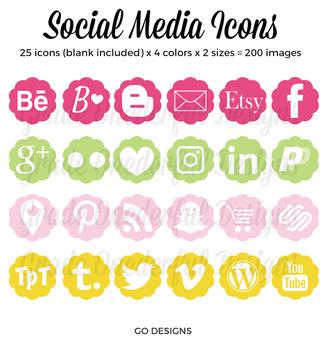 Social Media Icons: Blog Buttons, Social Media, Twitter Pinterest Blog Lovin'