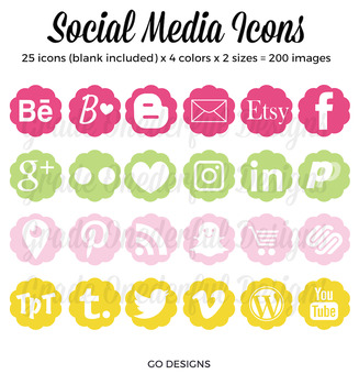 Social Media Icons: Blog Buttons, Social Media, Twitter Pi