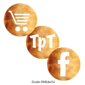 Social Media Icons Copper Foil
