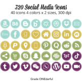 Social Media Icons: Periscope, Snapchat,  Instagram, Blogger, WordPress