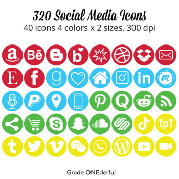 Social Media Icons: Periscope, Snapchat, Twitter, Instagram, Blogger, WordPress