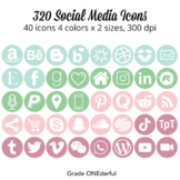 Social Media Icons: Periscope, FB, Pinterest, Twitter, For