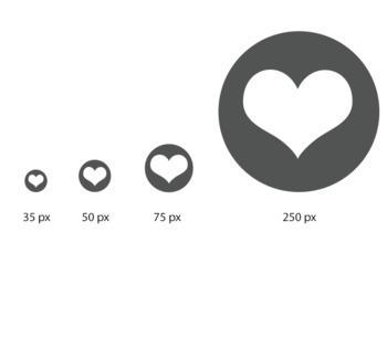 Social Media Icons: Twitter, Facebook,  Pinterest, Instagram, Gray, 4 sizes