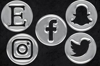 Social Media Icons - Water Drops
