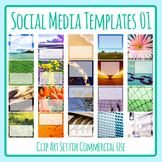Social Media Image Templates - Instagram, Facebook, etc - Pictures Copy Space 01