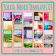 Social Media Image Templates - Instagram, Facebook, etc - Pictures Copy Space 02