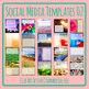 Social Media Image Templates - Instagram, Facebook, etc - Pictures Copy Space 02