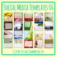 Social Media Image Templates - Instagram, Facebook, etc - Pictures Copy Space 06