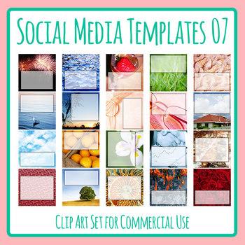 Social Media Image Templates - Instagram, Facebook, etc - Pictures Copy Space 07