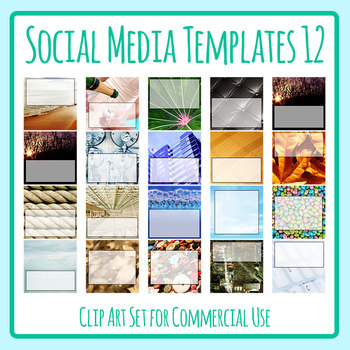 Social Media Image Templates - Instagram, Facebook, etc - Pictures Copy Space 12