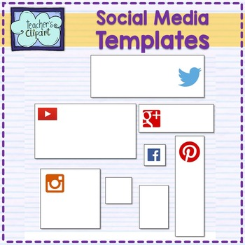 Social Media Images Editable Templates {Power Point and JPG}